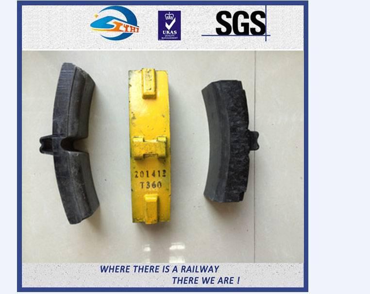 ZhongYue OEM High Phosphorous Cast Iron Brake Shoe For Wagon , High Friction
