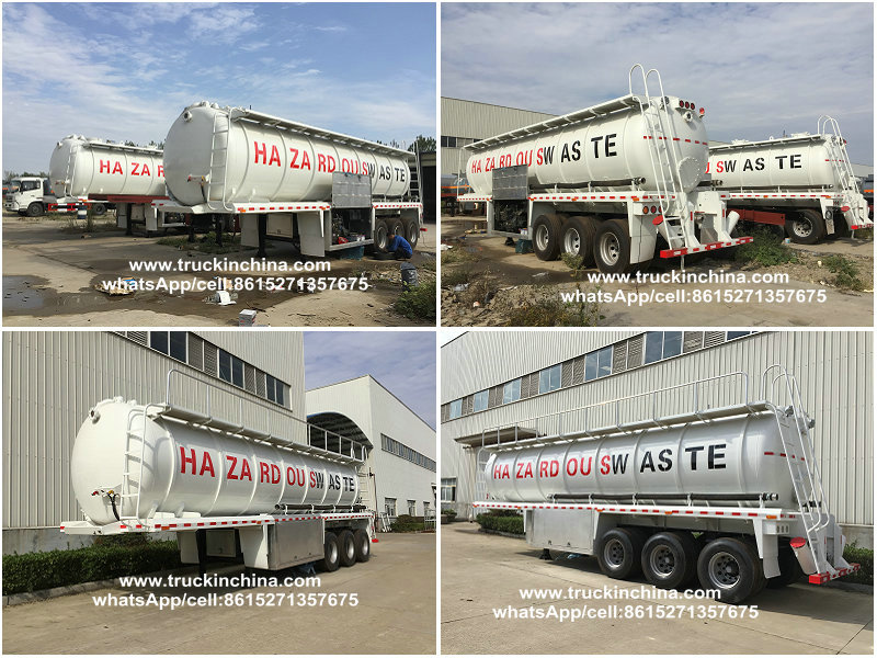 25,000 liters waste water suction tank semi trailer