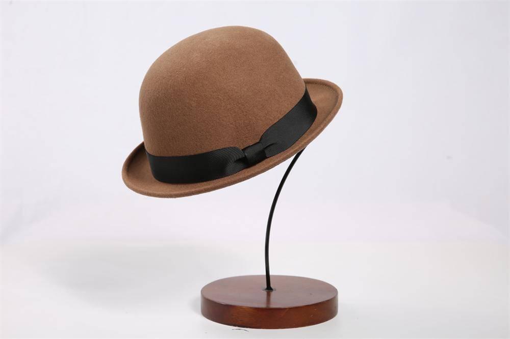Wool Felt Bowler Hat For Woman (FW214001)