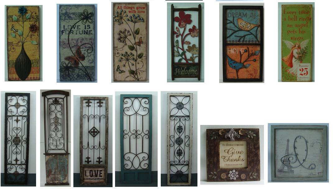 Antique wood wall decor