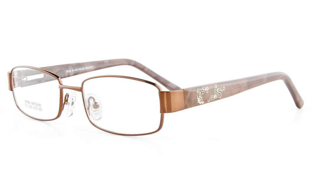 Brown 8808 Full Rim Oval Metal-Stainless Steel/ZYL Glasses