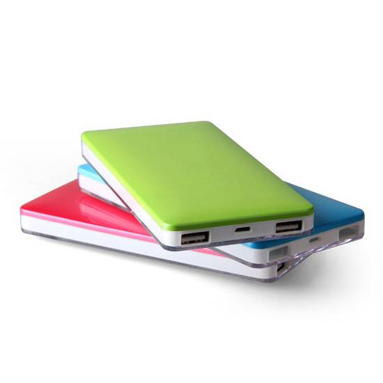 6000mAh 8000mAh ABS Shiny Power bank Mobile Charger for Tablet Mobile Phone