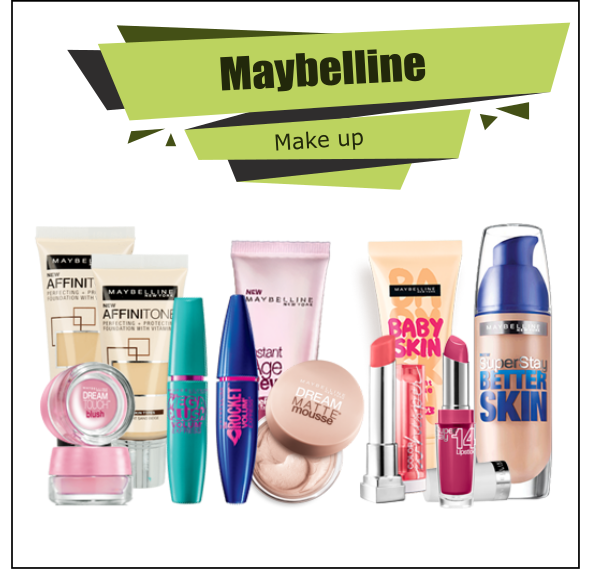 Maybelline Proffesional Make Up Cosmetics Full Offer