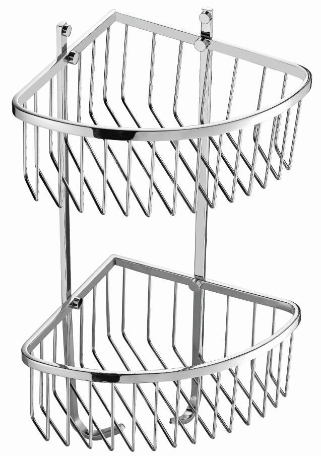 Bathroom set double layer Corner Basket Shower Basket