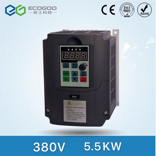 High Quality 380V 5.5kw 13A Frequency Drive Inverter CNC Driver CNC Spindle motor Speed control,Vect