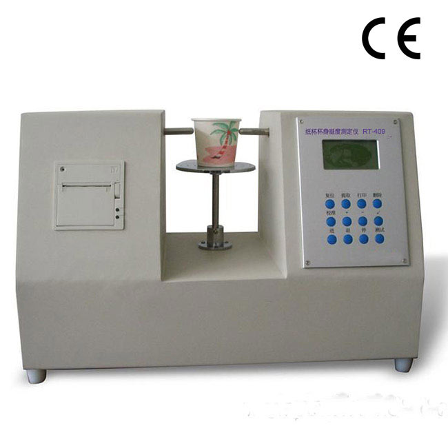 RT-409 Paper cups body stiffness tester