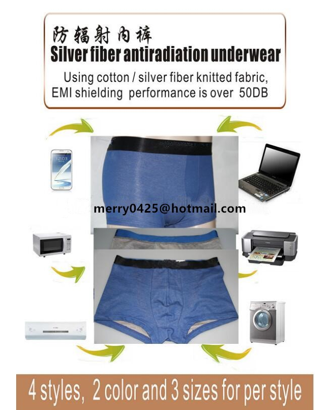 China wholesale silver fiber fabric anti radiation fabric for making man underwear