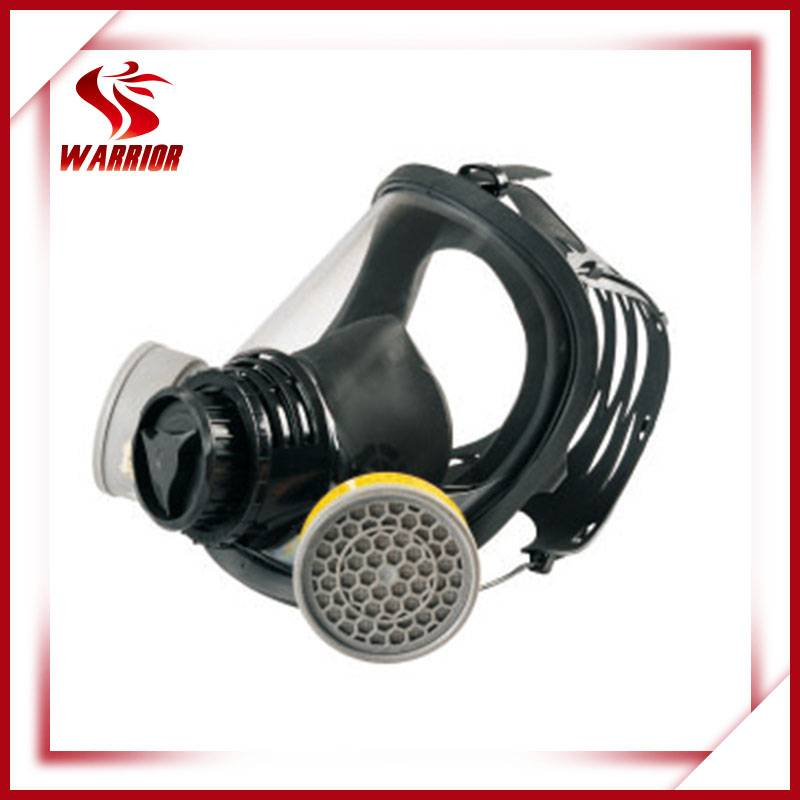Double cartridge safety protective gas mask