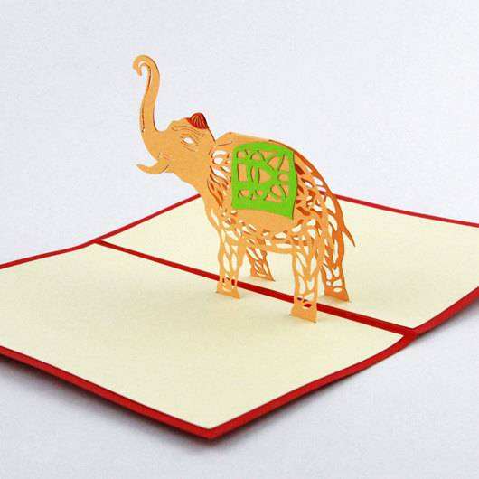 Elephant 3D pop up greeting card