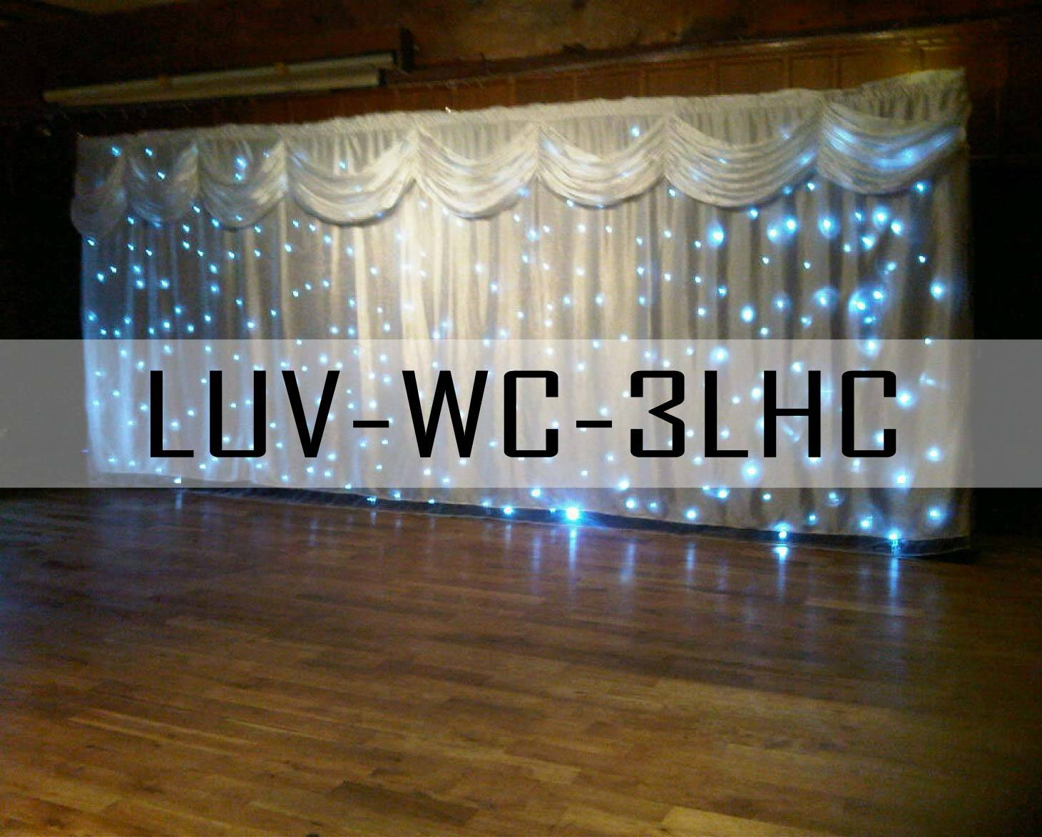 3mx6m RGB led Wedding Curtain