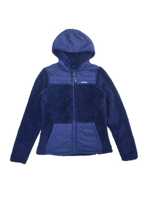 Ningbo fuzhi garments women's knitted winter full zipper hoodies jacket sherpa warm