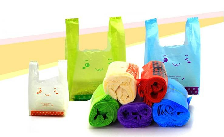 Wholesale Customized Printed biodegradable T-shirt Bags