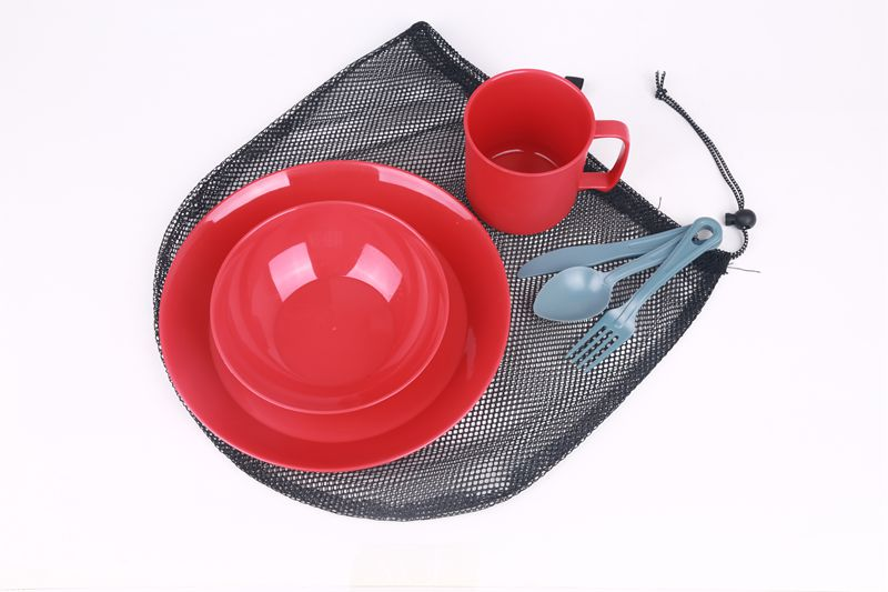 Outdoor camping plastic mess kit