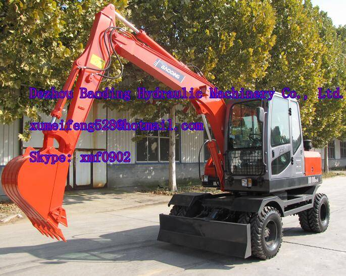 China 8 ton wheel excavator for sale