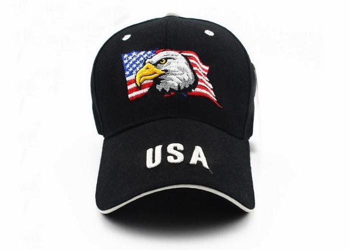 3D USA embroidered wool custom baseball cap