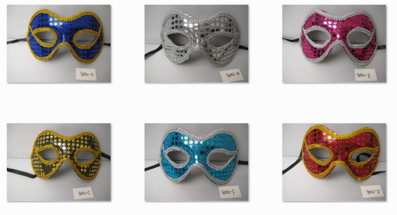 Masquerade Mardi Gras Venetian Party Eye Mask With Sparkling sequins