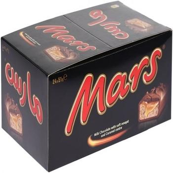 Mars Chocolate Bars, Box of 24 Pieces (24 x 51g)