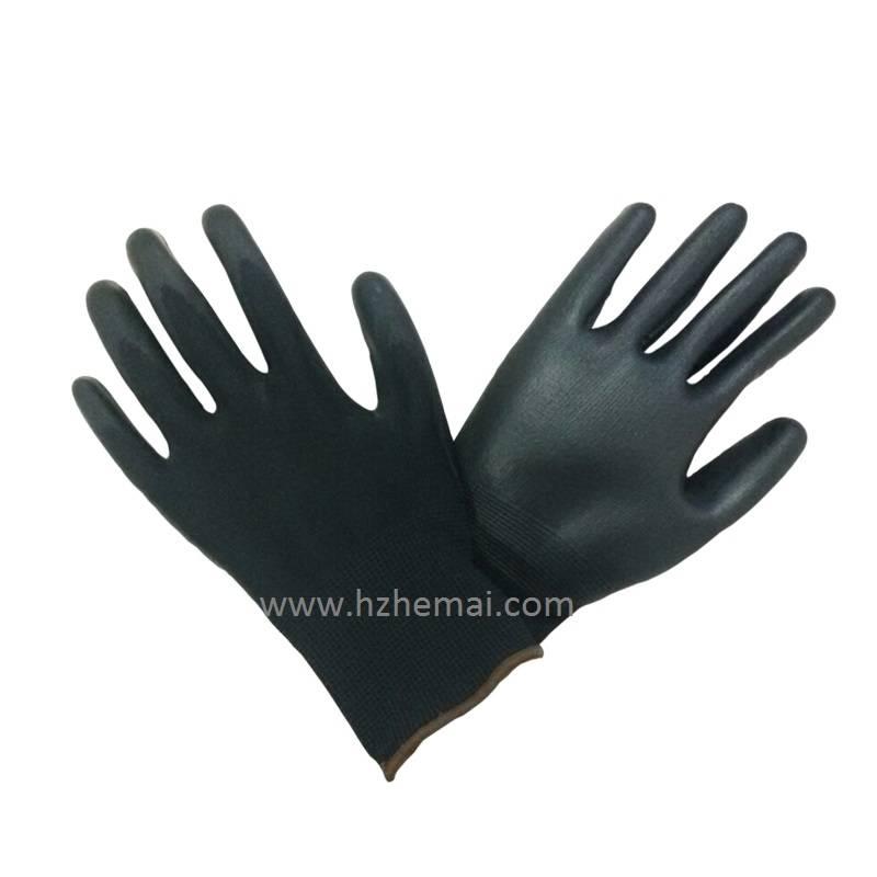 Black PU glove DMF free
