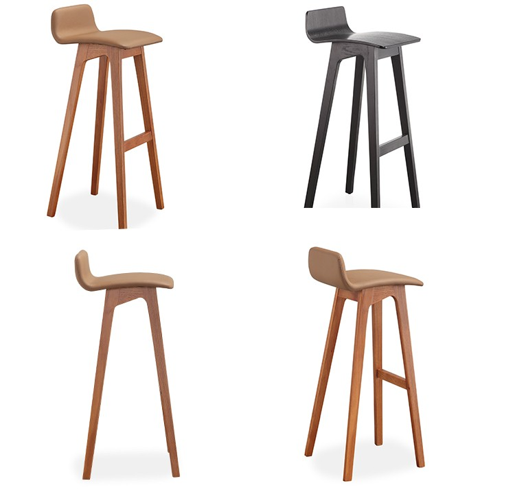101 Modern Hotel Solid Wood Bar Stools