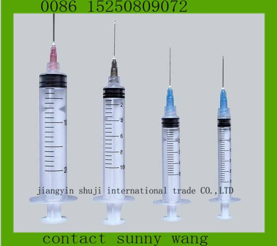 hot sales 3 parts disposable syringe 3cc,5cc price,10ml Medical Disposable Syringes