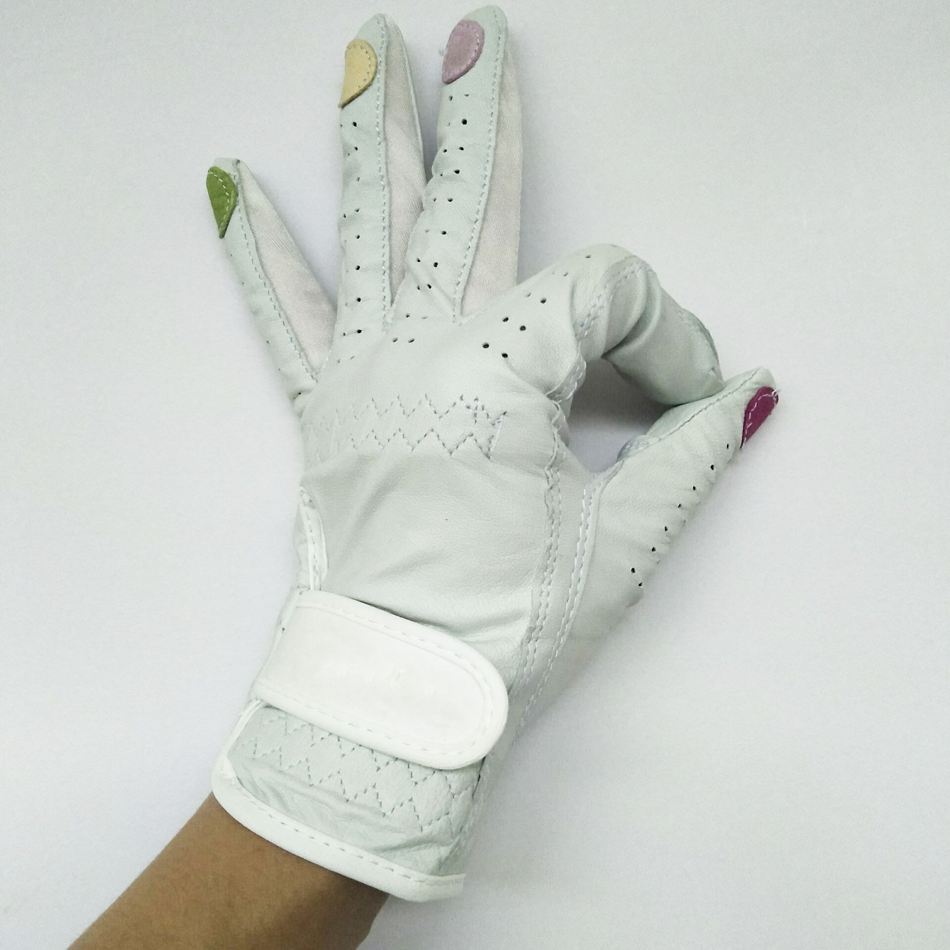 Custom Genuine cabretta Leather Golf Gloves