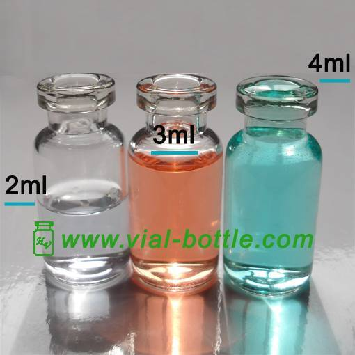 3ml clear molded injection vial for antibiotics