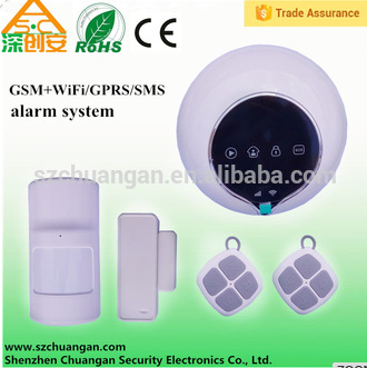 WiFi GSM smart home security alarm system with Android + IOS