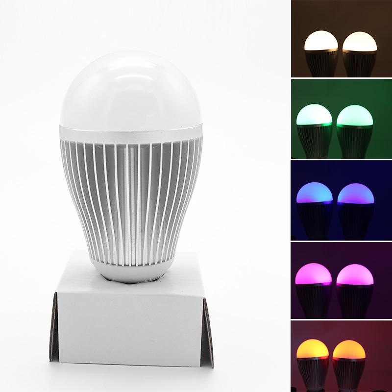 AC100-240V RGB 9W E27 Light Bulb Led/ Economic Led Bulb/ Remote Control Rechargeable Led Bulb Light