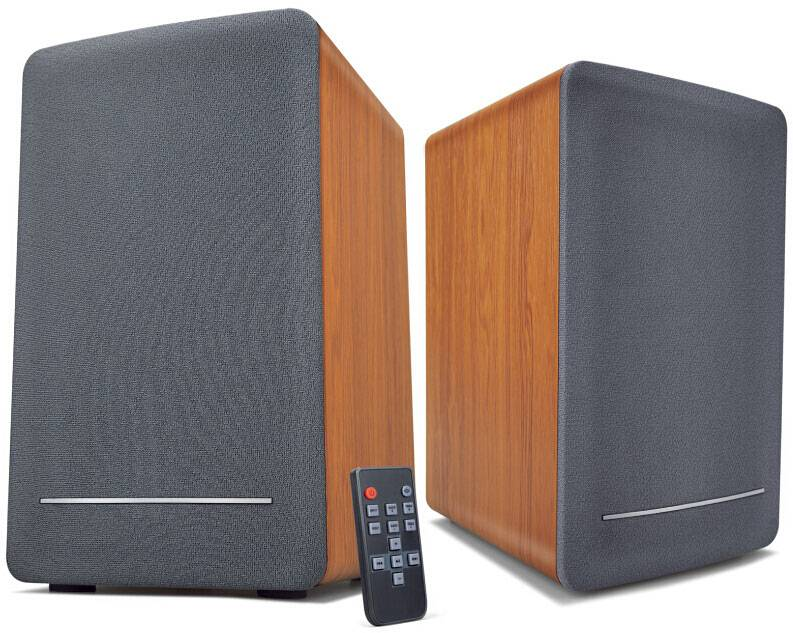 High Quality 2CH Loud Bookshelf Speakers with Wood