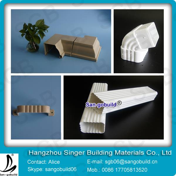 Hot selling good quality system pvc rain gutter