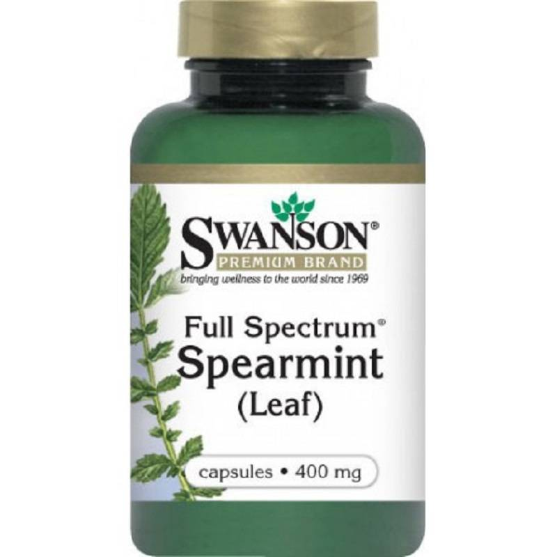 Megavitamins - Swanson Spearmint Leaf Herbal Supplement used for digestive health