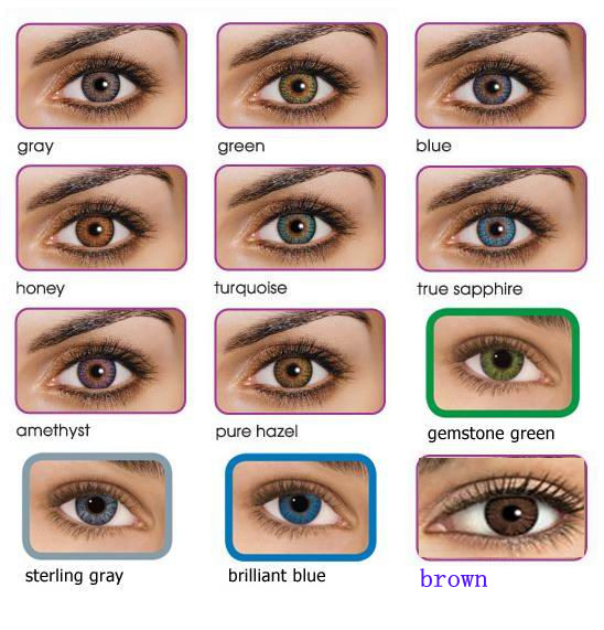 Contact lens /color contact lenses/2 tone color lenses