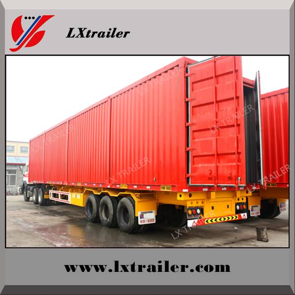 Liangxiang enclosed 2 or 3 axle van box tractor semi trailer