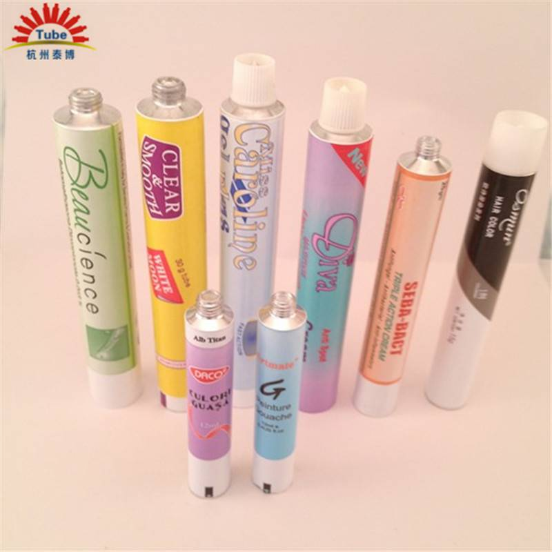 cosmetic products packaging aluminum tube