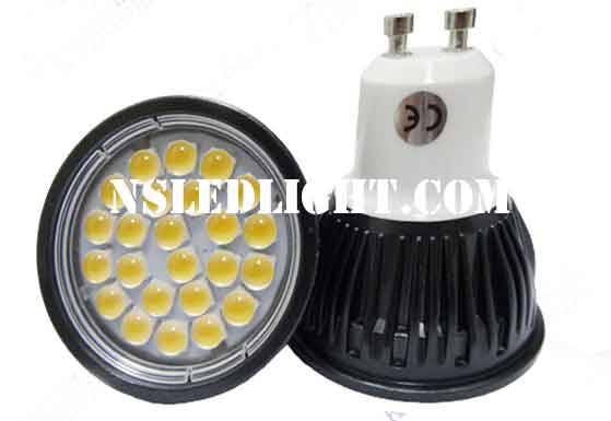 GU10 MR16 led downlights 24pcs SMD5050 3.5W 60degree Beam angle Aluminum Alloy