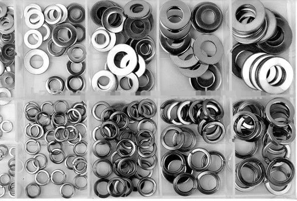 TC 250pc Stainless Steel Flat Spring Washer Assortment