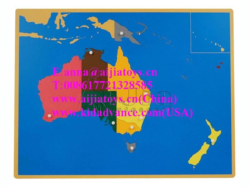 Montessori Puzzle Map of Australia,montessori materials toys