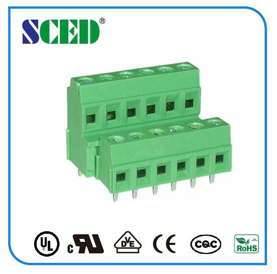 PCB Screw terminal block 3.81/5.08mm screw clamp connector