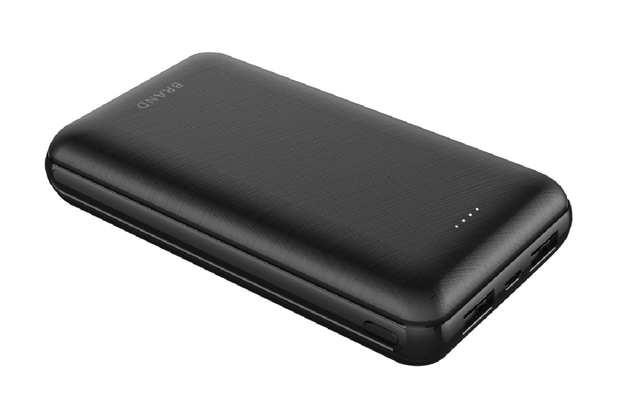 Techplus-20000mAh Protable power bank charger black/white