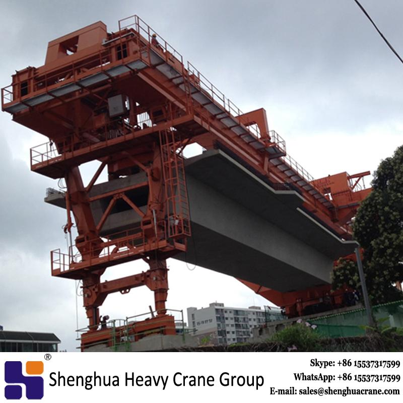 Custom-built 1800 ton launching gantry used span by span method for MRT bridge erection