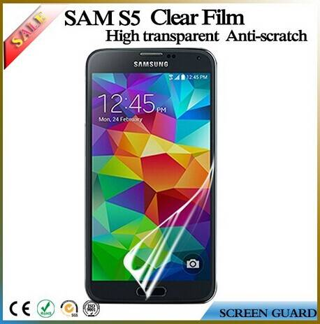 Excellent anti scratch clear phone screen protector film for Samsung galaxy S5