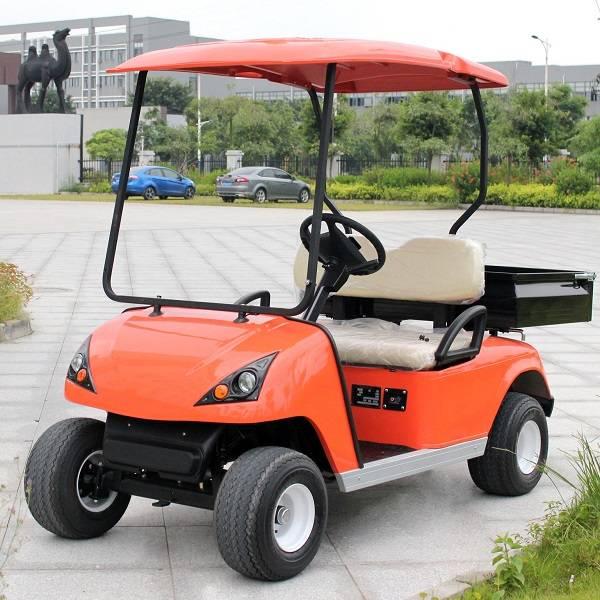 battery power cargo box 2 person golf buggy