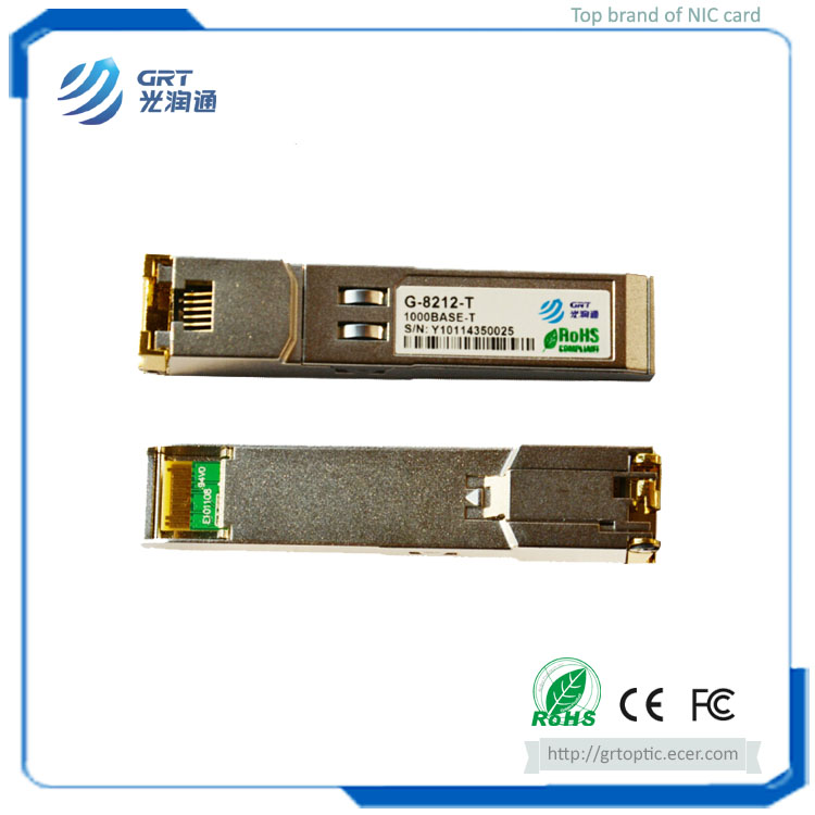 G-8211-T Hot-pluggable 1.25Gb 10/100/1000BASE-T Copper RJ-45 SFP Optical Module