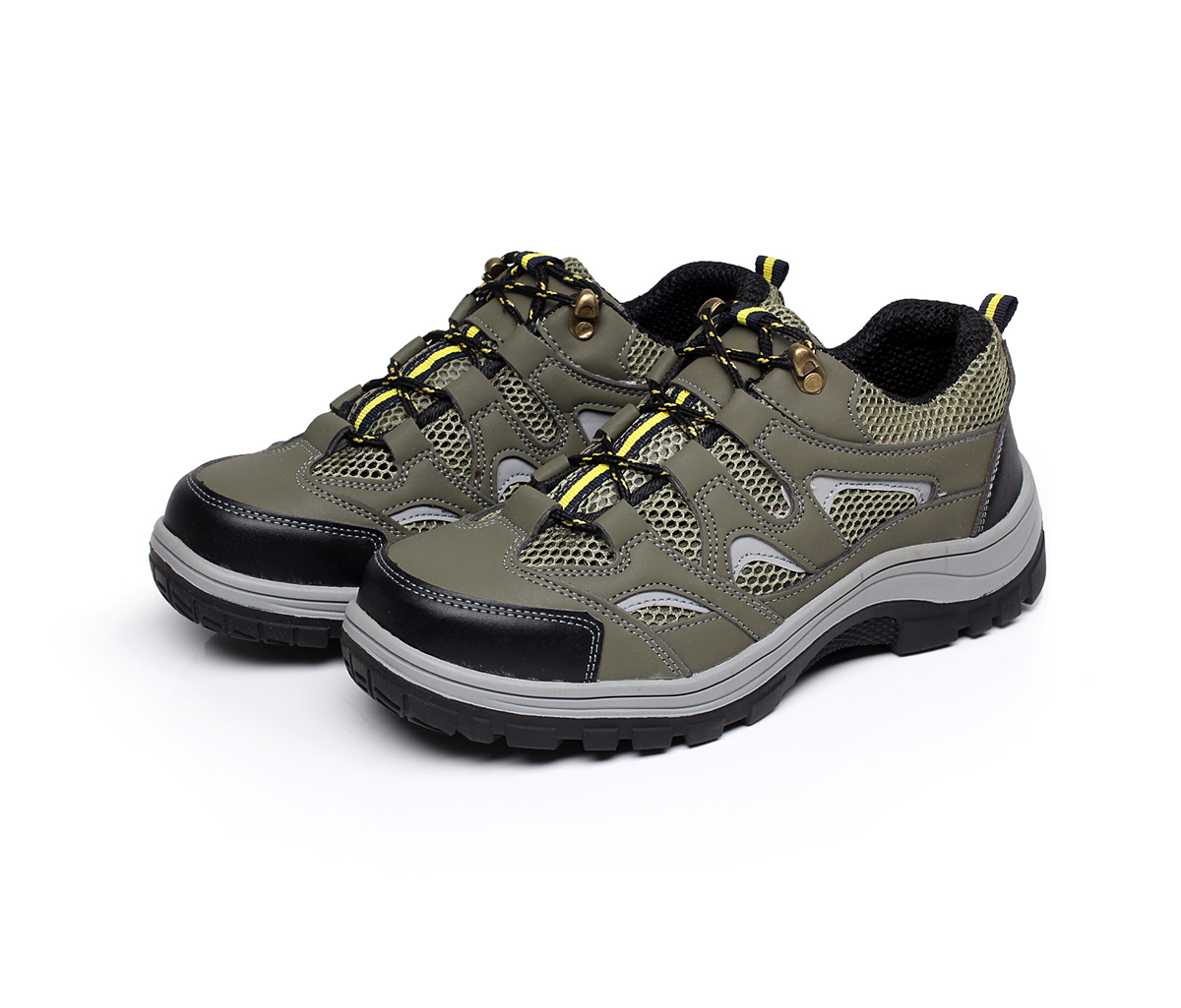 safety shoes work boots embossed leather pu outsole