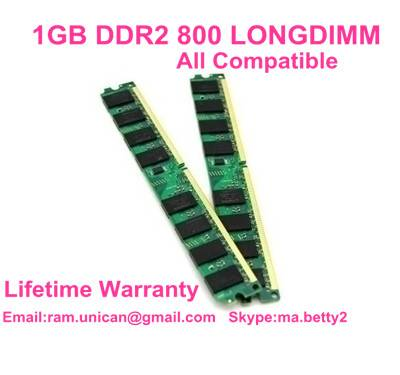 factory wholesale 1GB DDR2 800MHZ PC2-6400 all compatible