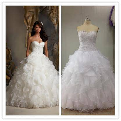 luxury imported wedding dress