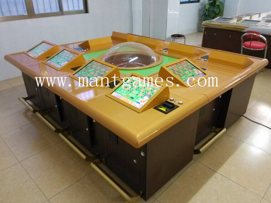 Luxury 10 Players Roulette Gambling Machine with Upgrade Roulette Wheel